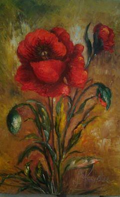 Picturi cu flori un mac