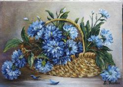 Picturi cu flori Albastrele in cos 2