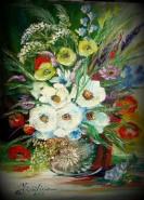Picturi cu flori Buchet de rusalii