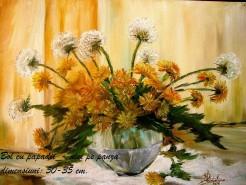 Picturi cu flori Papadii