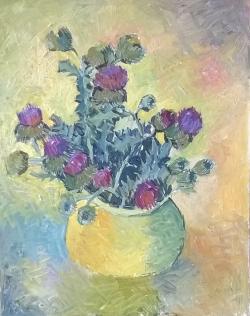 Picturi cu flori G174-SCAIEȚI