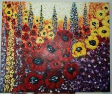 Picturi cu flori Flori de camp-maci imperiali