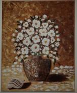 Picturi cu flori Vaza cu flori albe