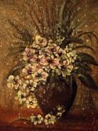 Picturi cu flori Natura statica  vaza cu flori albe
