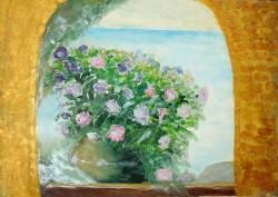 Picturi cu flori Asteptare