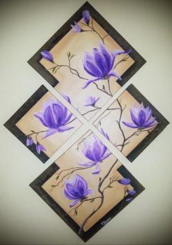 Picturi cu flori SPRING MAGNOLIAS