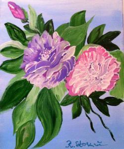 Picturi cu flori Flori de trandafir