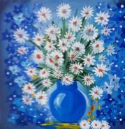 Picturi cu flori Margarete in vaza