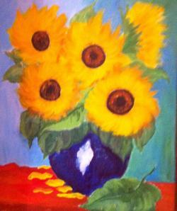 Picturi cu flori Mic buchet de Floarea soarelui