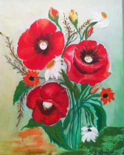 Picturi cu flori Vara florilor