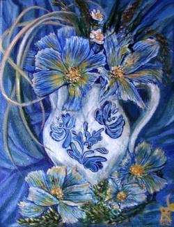 Picturi cu flori Blue Flowers