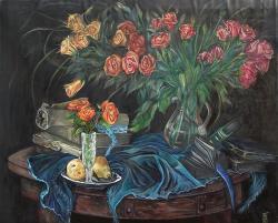 Picturi cu flori Roses still life