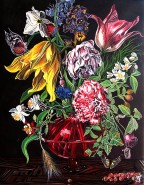 Picturi cu flori Buchet  flori de primavara