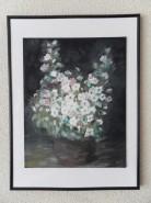 Picturi cu flori Flori albe de cires