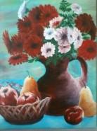 Picturi cu flori Flori si fructe