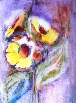Picturi cu flori Flori de lumina 1