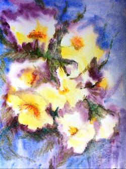 Picturi cu flori Flori de lumina 2