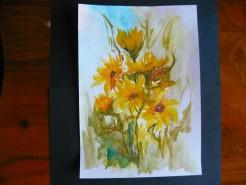 Picturi cu flori Flori in soare