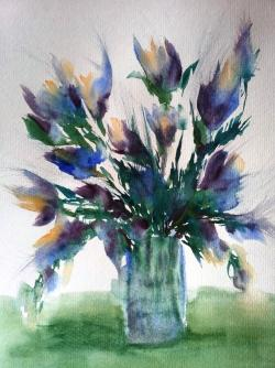 Picturi cu flori Flori lila