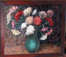 Picturi cu flori Candoarea lui tonitza - garoafe