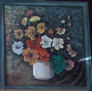 Picturi cu flori Ikebana cu petunii