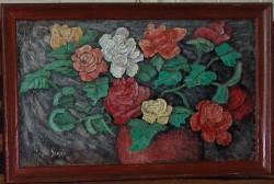 Picturi cu flori Trandafiri - remember tonitza