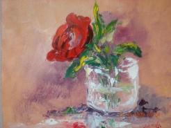 Picturi cu flori Floare in pahar