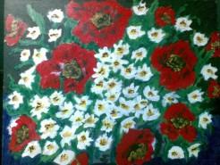 Picturi cu flori Macii rosii