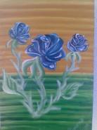 Picturi cu flori Trandafiri albastri
