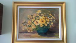 Picturi cu flori Flori galbene.
