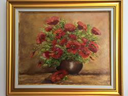 Picturi cu flori Surâs de maci.