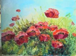 Picturi cu flori Zâmbetul  macilor