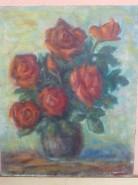 Picturi cu flori Trandafiri in glastra