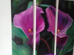 Picturi cu flori Doua cale