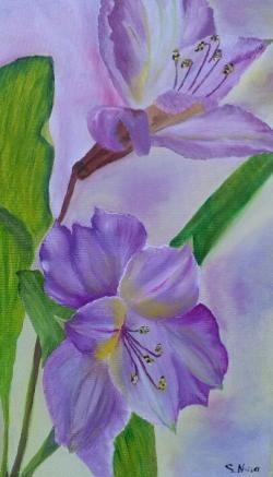 Picturi cu flori Numai doi