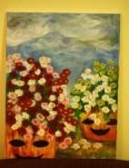 Picturi cu flori Tufanele la haloween