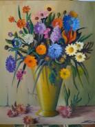 Picturi cu flori Flori in vas de arama