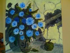 Picturi cu flori Natura statica cu flori albastre