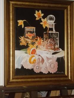 Picturi cu flori cristal si flori de orhidee