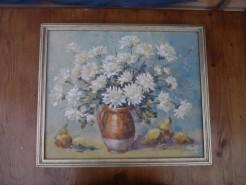 Picturi cu flori Crizanteme albe