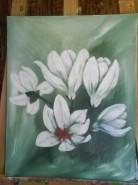 Picturi cu flori Frumoasa magnolie