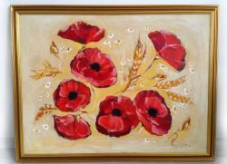 Picturi cu flori CAMP CU MACI ROSII