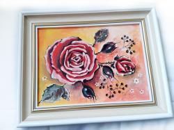 Picturi cu flori ROSES AND WHITE FLOWERS