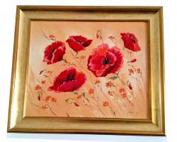 Picturi cu flori RED FLOWERS