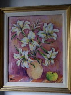 Picturi cu flori flori lll , anii 80