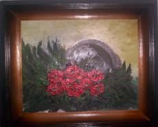 Picturi cu flori Cos cu maci