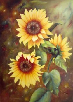 Picturi cu flori Sunflower-1