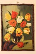 Picturi cu flori Vas cu lalele