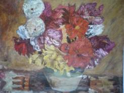 Picturi cu flori Flori de luchian
