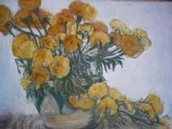 Picturi cu flori Flori galbene  de luchian